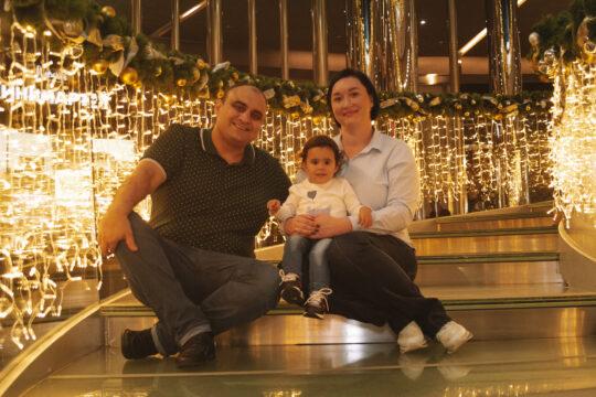 Татьяна Касаева с семьей
