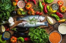помидоры овощи рыба